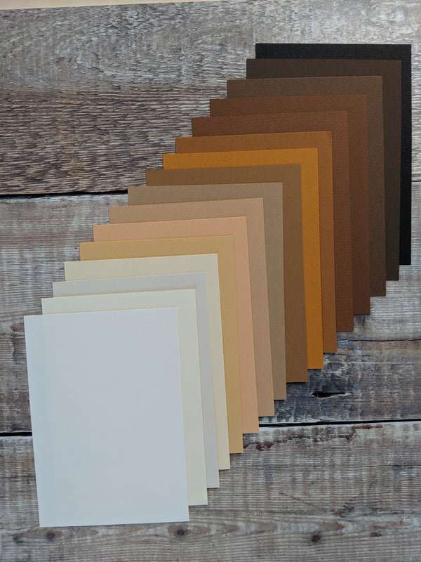 16  Layered pack of Sepia A4 Hammered 160 gsm paper