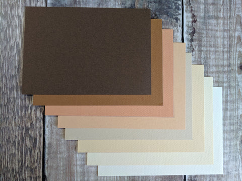 Brown mix : Canson Mi Teintes 160 gsm : 8 shades
