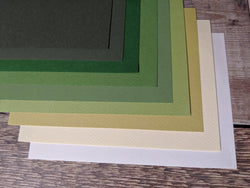 layered pastal paper toal pack for papercutting and pencil
