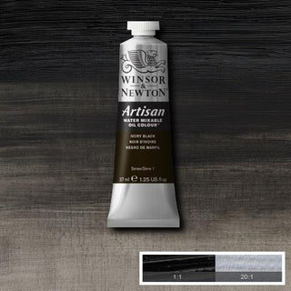 Winsor & Newton Artisan Oil : Water Mixable Oil paint 37 ml : Ivory Black