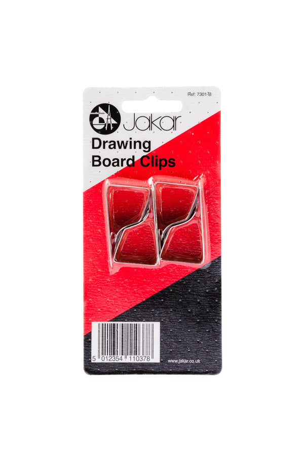 Jakar Drawing board clips, set of four : 1 inch