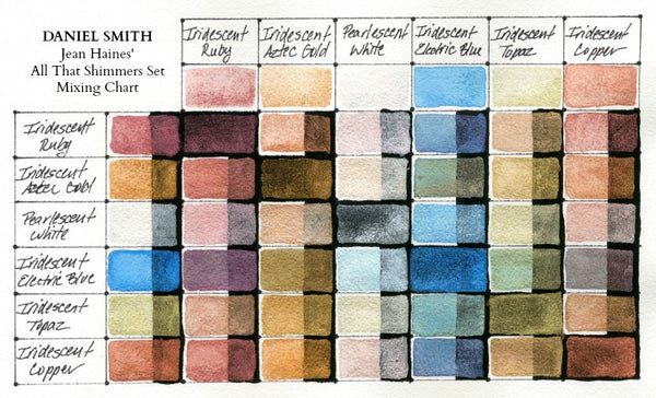 DANIEL SMITH Jean Haines' All That Shimmers Watercolor Set of 6
