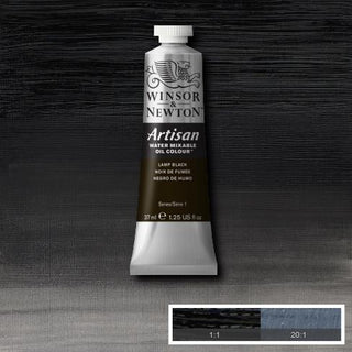 Winsor & Newton Artisan Oil : Water Mixable Oil paint 37 ml : Lamp black