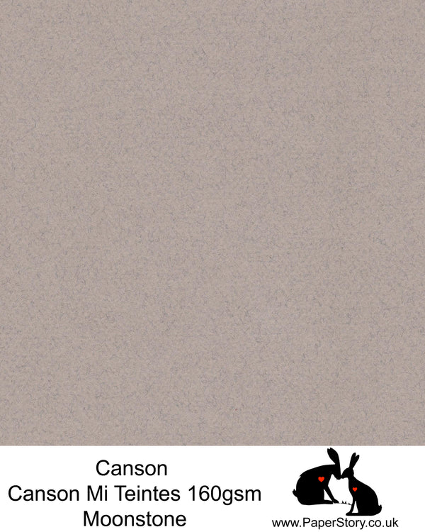 Canson Mi Teintes acid free,Felted warm Grey hammered texture honeycomb surface paper 160 gsm. This is a popular and classic paper for all artists especially well respected for Pastel  and Papercutting made famous by Paper Panda. This paper has a honeycombed finish one side and fine grain the other. An authentic art paper, acid free with a  very high 50% cotton content. Canson Mi-Teintes complies with the ISO 9706 standard on permanence, a guarantee of excellent conservation
