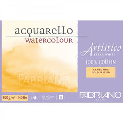 Fabriano Artistico Watercolour paper 100 % Cotton Extra White 300 gsm : 12 x 18