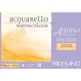 abriano Artistico acquareLLo Watercolour paper 100 % Cotton Extra White 300 gsm : 5 x 7