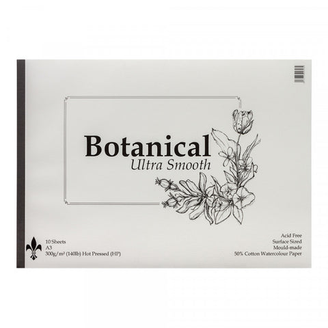 Botanical Ultra Smooth Hot Pressed : St Cuthberts : Watercolour 300 gsm ( 140 lb)