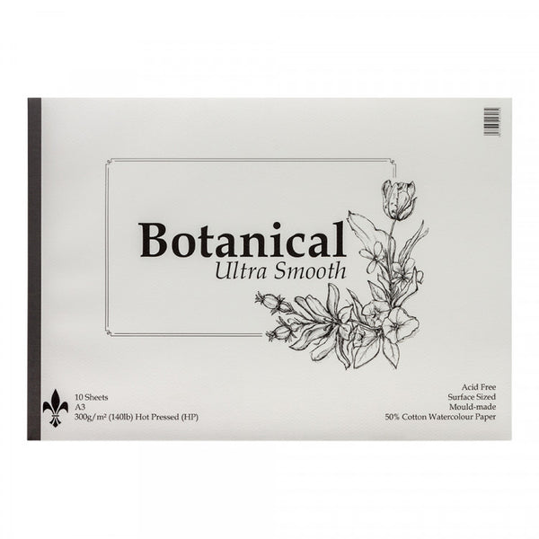 Botanical Ultra Smooth Hot Pressed St Cuthberts Mill Watercolour 300 gsm ( 140 lb) A3 x 10 sheets