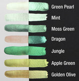 Finetec Coliro Mica Watercolour Paint  :  Apple Green M020