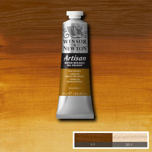 Winsor & Newton Artisan Oil : Water Mixable Oil paint 37 ml : Raw Sienna