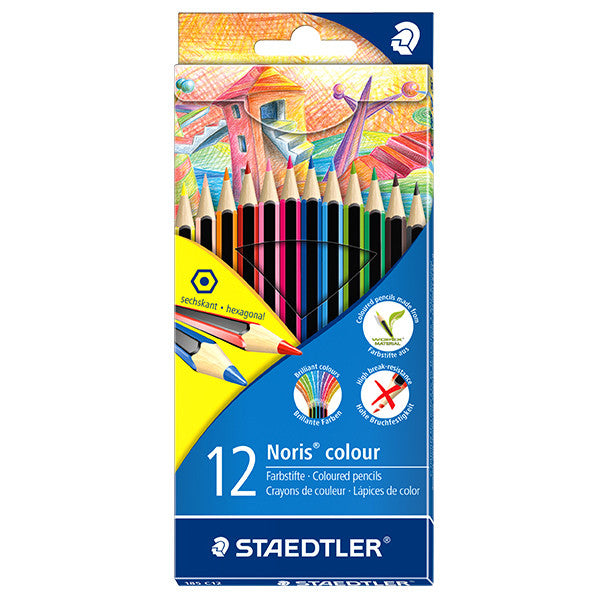STAEDTLER Pack of 12 Noris Club colouring pencils, Assorted colours
