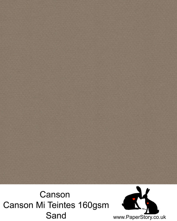 Canson Mi Teintes acid free, Sand, has hints of warm grey and brown palest pink almost white, hammered texture honeycomb surface paper 160 gsm. This is a popular and classic paper for all artists especially well respected for Pastel  and Papercutting made famous by Paper Panda.