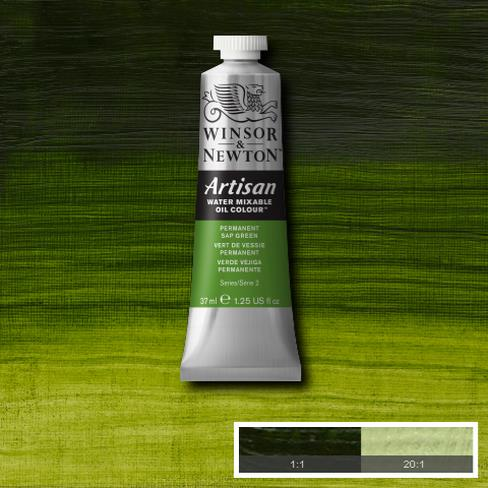 Winsor & Newton Artisan Oil : Water Mixable Oil paint 37 ml : Permanent Sap green