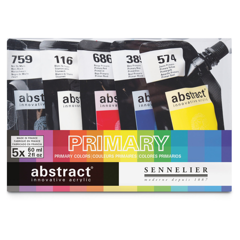 SENNELIER Primary Matt acrylic paint set of 5 x 60ml