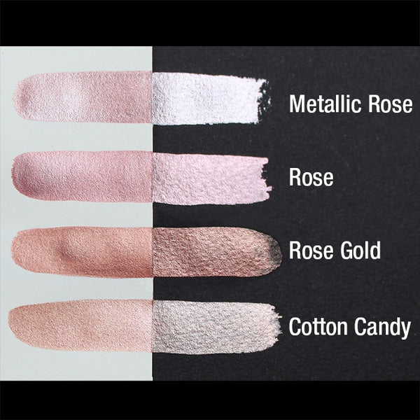 Finetec Coliro Mica Watercolour Paint Metallic Rose M031