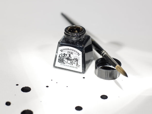 WINSOR & NEWTON : DRAWING INK : 14ML : BLACK Indian ink