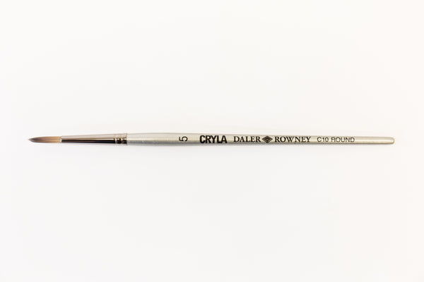 Daler Rowney Cryla Acrylic Brush C10 Round Size Nº 5. Daler-Rowney Cryla Brushes are designed for acrylic painting. All brushes have natural-look synthetic fibers that offer good, even performance and strong levels of durability.