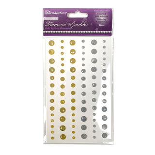 Hunkdory Diamond Sparkle Gold & Silver colour stickers