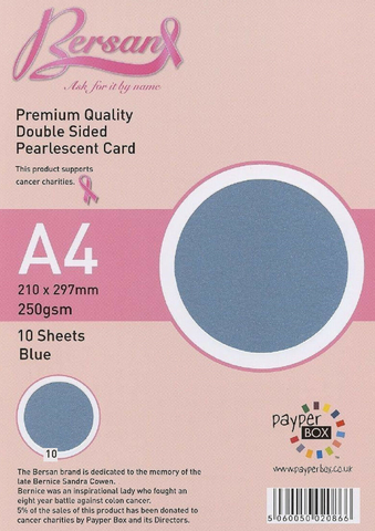 A4 Payperbox Pearlescent card 250 gsm : Blue