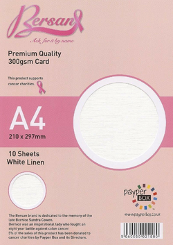 A4 Payperbox Linen card 300 gsm : Ivory