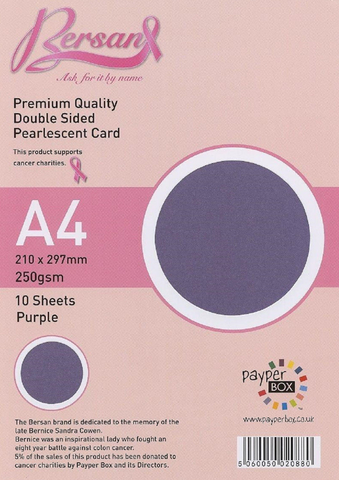 A4 Payperbox Pearlescent card 250 gsm : Purple