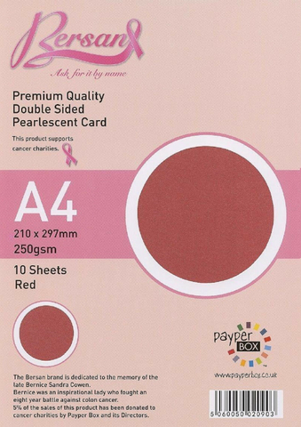 A4 Payperbox Pearlescent card 250 gsm : Red