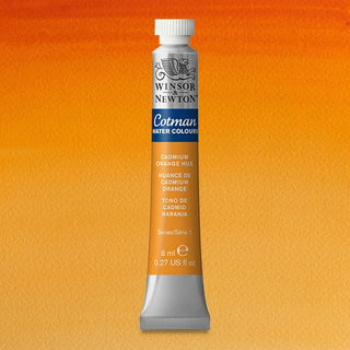 Winsor & Newton Watercolour Paint Cotman 8ml tube : Cadmium Orange Hue