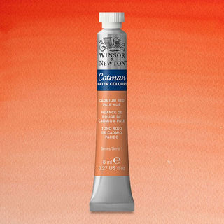 Winsor & Newton Watercolour Paint Cotman 8ml tube : Cadmium Red Pale Hue