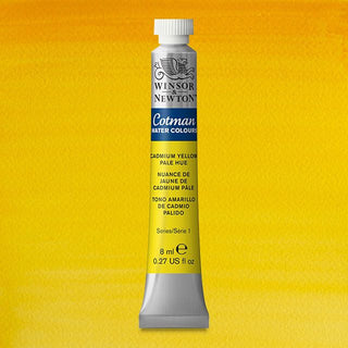 Winsor & Newton Watercolour Paint Cotman 8ml tube : Cadmium Yellow Pale Hue