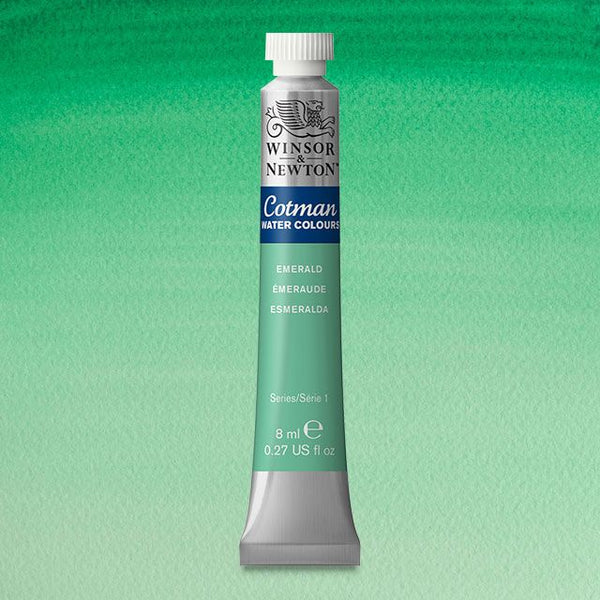 Winsor & Newton Watercolour Paint Cotman 8ml tube :  Emerald