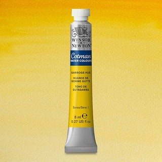 Winsor & Newton Watercolour Paint Cotman 8ml tube : Gamboge Hue