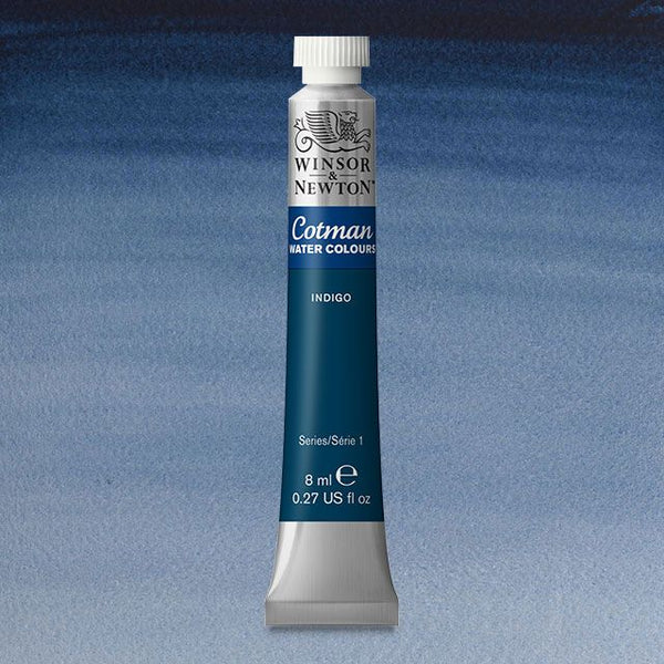 Winsor & Newton Watercolour Paint Cotman 8ml tube : Indigo