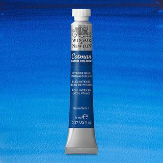 Winsor & Newton Watercolour Paint Cotman 8ml tube : Intense Blue (Phthalo Blue)