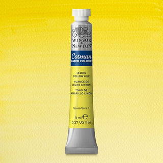 Winsor & Newton Watercolour Paint Cotman 8ml tube : Lemon Yellow Hue