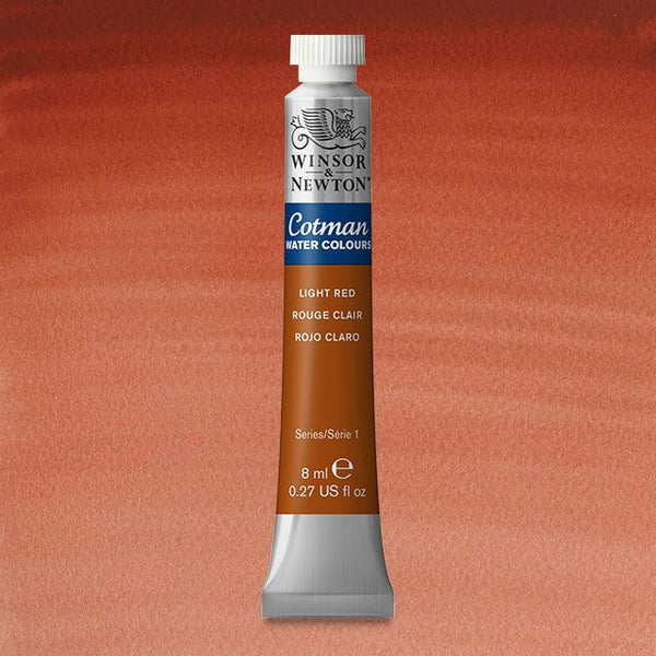 Winsor & Newton Watercolour Paint Cotman 8ml tube : Light Red