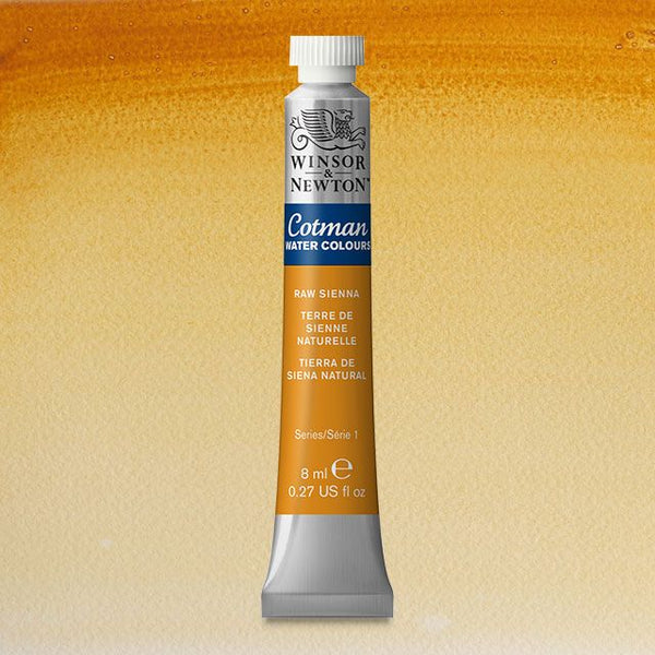 Winsor & Newton Watercolour Paint Cotman 8ml tube : Raw Sienna