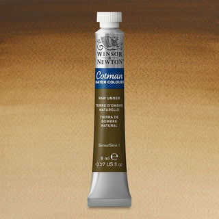 Winsor & Newton Watercolour Paint Cotman 8ml tube : Raw Umber
