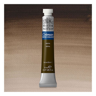 Winsor & Newton Watercolour Paint Cotman 8ml tube : Sepia