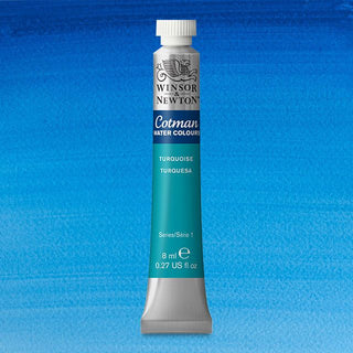 Winsor & Newton Watercolour Paint Cotman 8ml tube : Turquoise