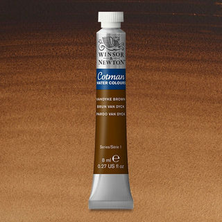 Winsor & Newton Watercolour Paint Cotman 8ml tube : Vandyke Brown