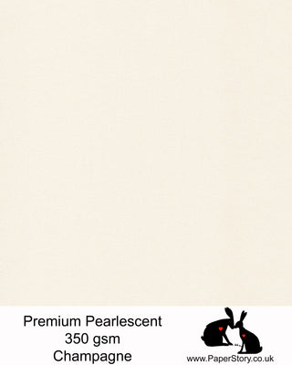 A4 Pearlescent Premium 350 gsm card Champagne warm ivory, this card is a luxury heavyweight premium pearlescent card. With a double sided quality pearlescent finish and a colour core, makes this perfect for card making, wedding invitations and stationery.FSC certified, acid free, archival and PH neutral