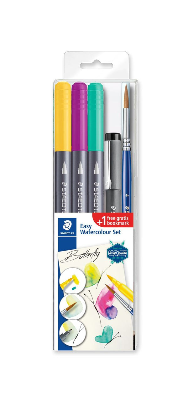 Staedtler Easy Watercolour Brush Pen set : Butterfly