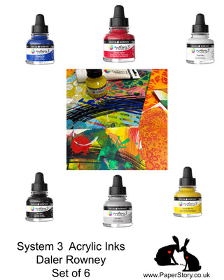 These paints support a varied range of applications. They can be poured, dripped using the pipette lid, applied with a paint brush or with paint markers such as Daler-Rowney FW Mixed Media Markers. They are also suitable for calligraphy pens, dip pens and airbrushes. They can be used both indoors and outdoors, on a wide variety of surfaces: paper, canvas, textiles, wood, metal, brick walls, plastic or ceramic.