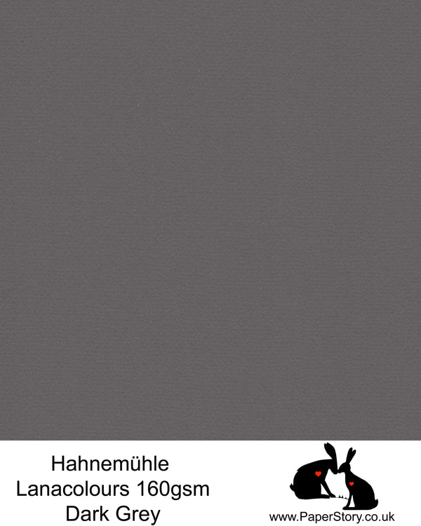 Hahnemühle Lana Colours pastel dark grey hammered paper 160 gsm. Artist Premium Pastel and Papercutting Papers 160 gsm often described as hammered paper.