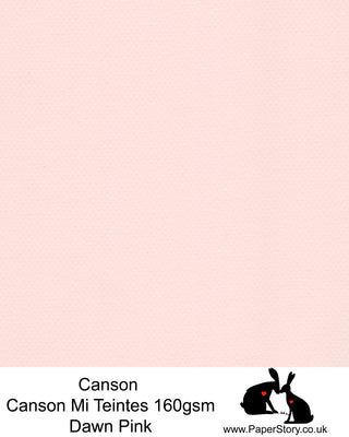 Canson Mi Teintes acid free, soft pink, hammered texture honeycomb surface paper 160 gsm. This is a popular and classic paper for all artists especially well respected for Pastel  and Papercutting made famous by Paper Panda. This paper has a honeycombed finish one side and fine grain the other. An authentic art paper, acid free with a  very high 50% cotton content. Canson Mi-Teintes complies with the ISO 9706 standard on permanence, a guarantee of excellent conservation