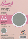 A4 Payperbox Pearlescent card 250 gsm : Gold / Silver duo