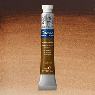 Winsor & Newton Watercolour Paint Cotman 8ml tube : Burnt Umber