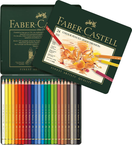 FABER CASTELL : Polychromos Pencil : Metal tin set 24