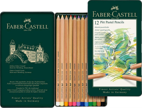FABER CASTELL : PITT Pastel Pencil : Metal tin set 12