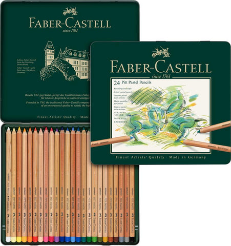 FABER CASTELL : PITT Pastel Pencil : Metal tin set 24
